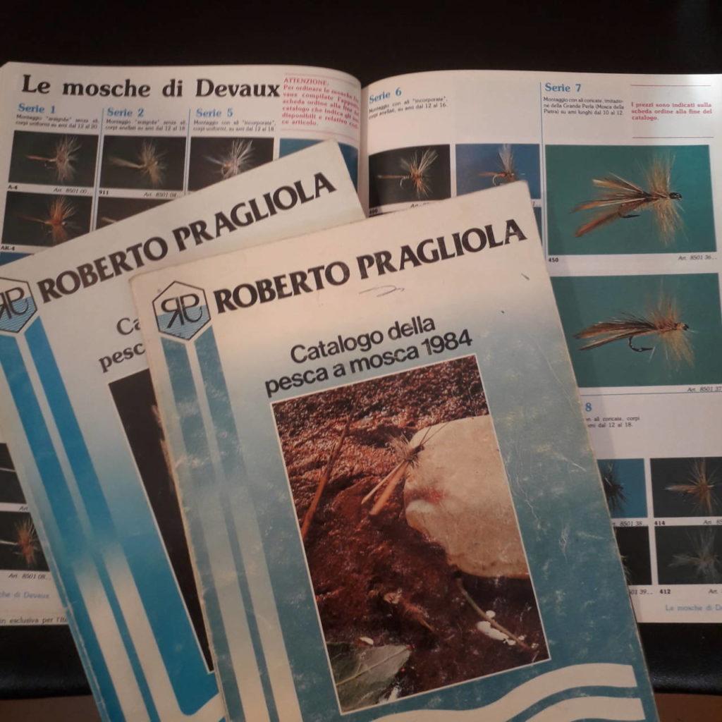 I vecchi cataloghi RP con le serie di mosche di Devaux