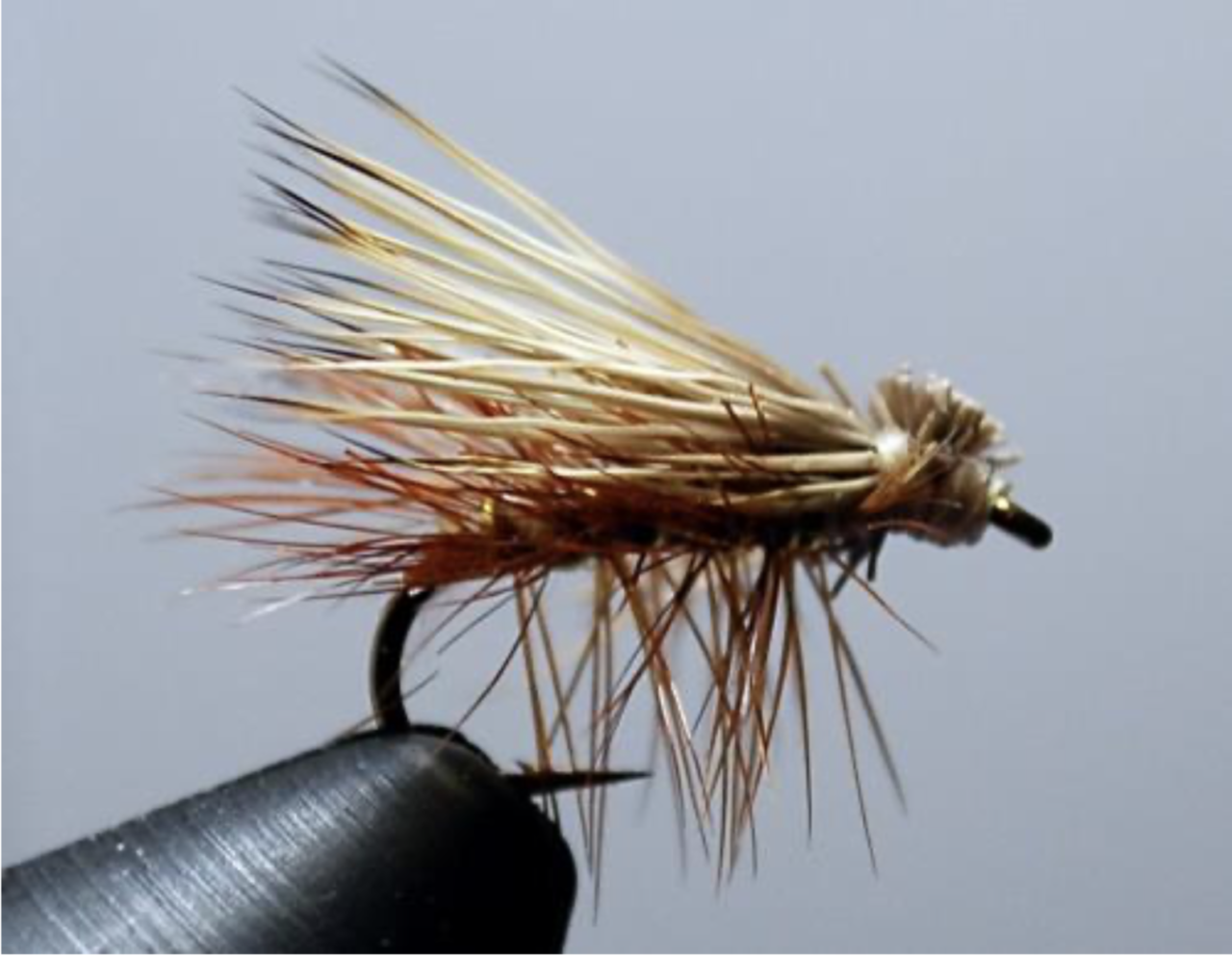 Elk Hair Caddis di fattura simile all'originale di Al Troth (foto dal web)