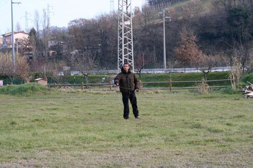 L'amico Flavio in allenamento