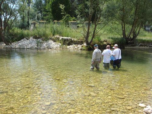 lezione sul fiume
