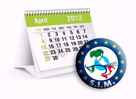 calendario con logo SIM