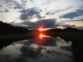 gacka tramonto terzo ponte