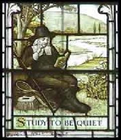 La finestra che ritrae Walton all'interno della cattedrale di Winchester, immagine da britannia.com