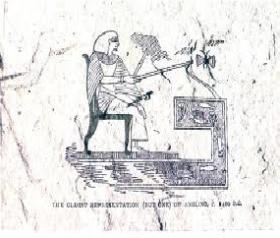Immagine del bassorilievo egizio conservato al British Museum, collezione di Giorgio Cavatorti